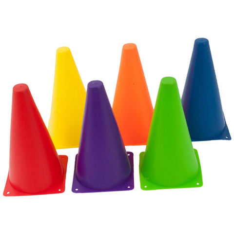 Rainbow Coloured Marker Cones 45cm High - Pack of 6