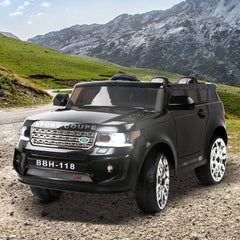 Land Rover Inspired Black 12v Ride-On Kids Car