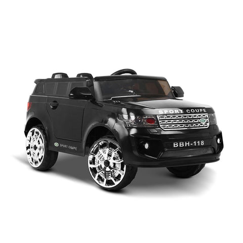 Land Rover Inspired Black 12v Ride-On Kids Car - Kids Car Sales