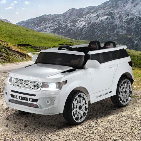 Land Rover Inspired White 12v Ride-On Kids Car - Kids Car Sales