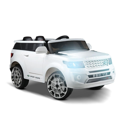 Land Rover Inspired White 12v Ride-On Kids Car