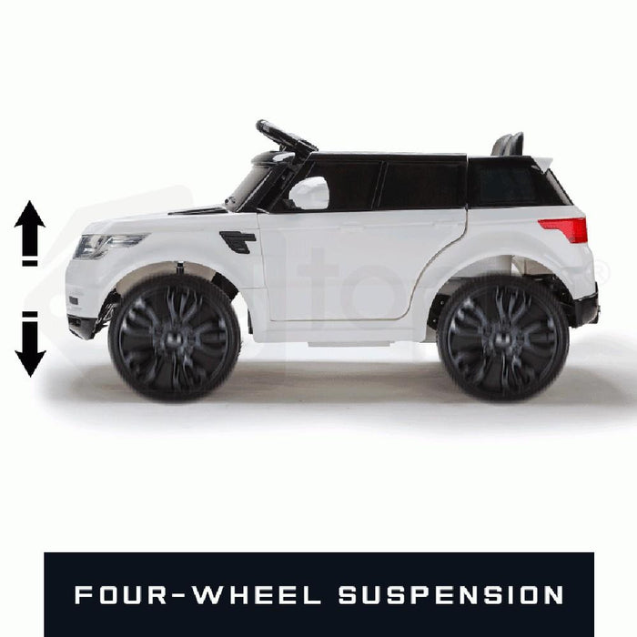 Unbranded Range Rover Sport Inspired White 12v Ride-On Kids Car (Open Box) RCAR-RANGEROVER-WH-Open Box