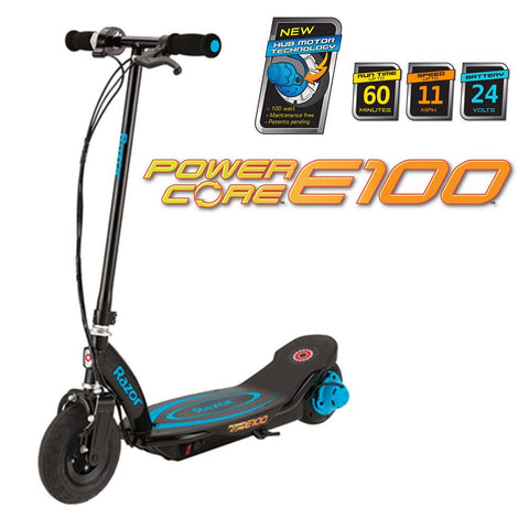 Razor Power Core E100 Electric Scooter in Blue