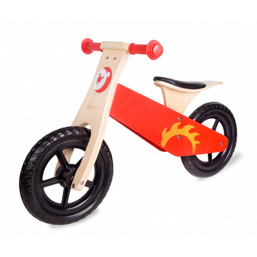 Red Wooden Kids Balance Bike By Classic World