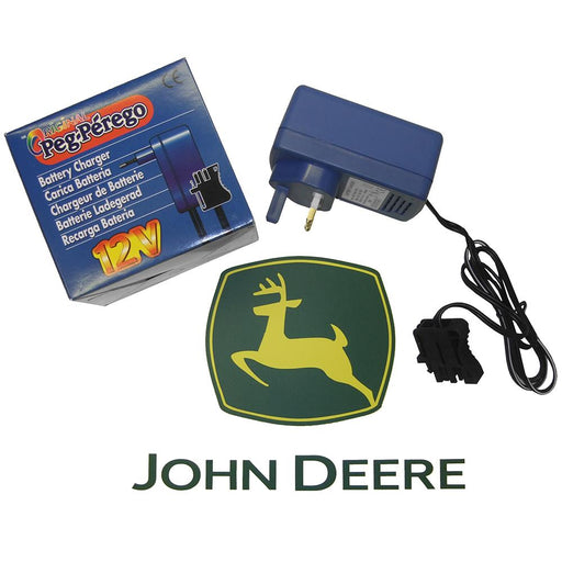 John Deere Peg Perego Fast Charge Battery Charger for 12V Ride-On Vehicles MECB0225