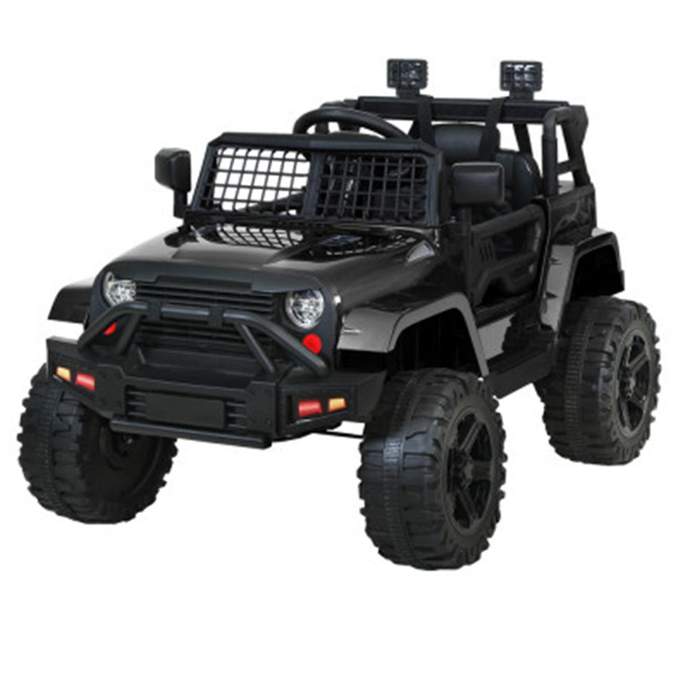 Unbranded Rigo 12v Electric Kids Ride On Jeep with Remote Control - Black RCAR-JEP-4WS-BK