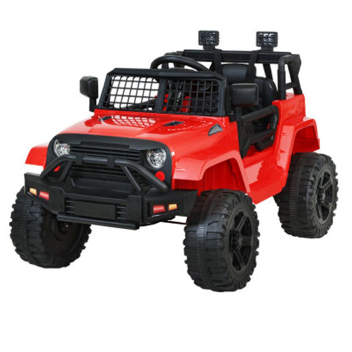 Unbranded Rigo 12v Electric Kids Ride On Jeep with Remote Control - Red RCAR-JEP-4WS-RD
