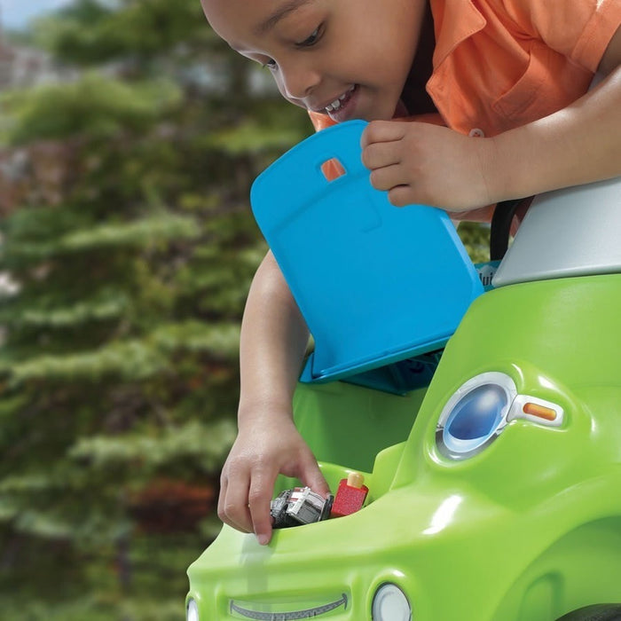 Easy Turn Coupe Green Kids Ride On Push Car