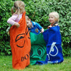 Image of Sack Racing Backyard Game with 5 Coloured Sacks