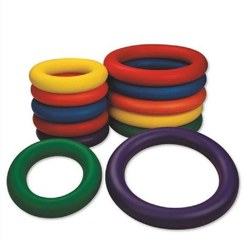Spectrum Multicolour 25cm Foam Ring Set of 6