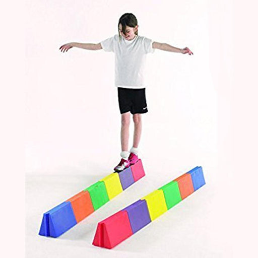 Straight Modular Rainbow Balance Beams - Kids Car Sales