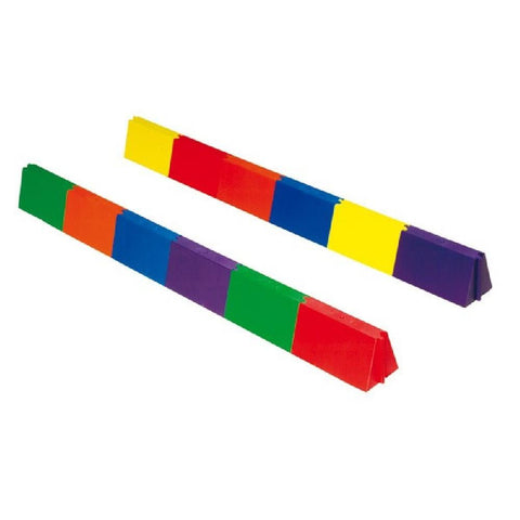 Straight Modular Rainbow Balance Beams