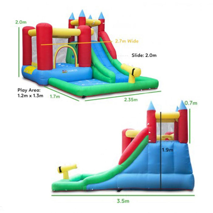 Surrey 2 Slide and Splash Inflatable Jumping Castle with Water Pool