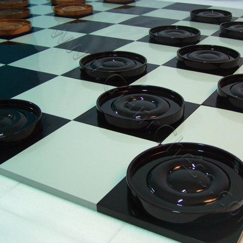 Teak 18cm Timber Giant Checkers Set