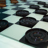 Image of Teak 38cm Timber Giant Checkers Set