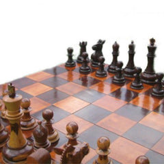 Teak 60cm Timber Giant Chess Set