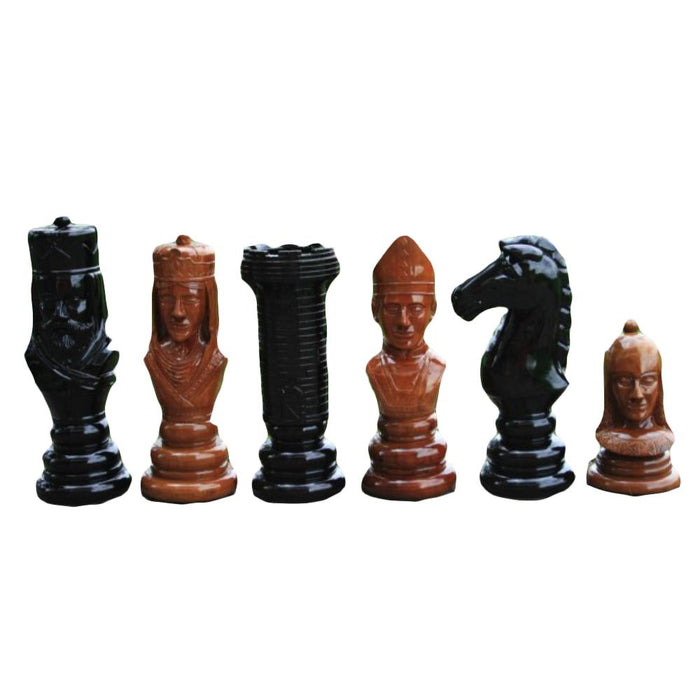 The Kingdom Hand Carved 60cm Timber Giant Chess Set