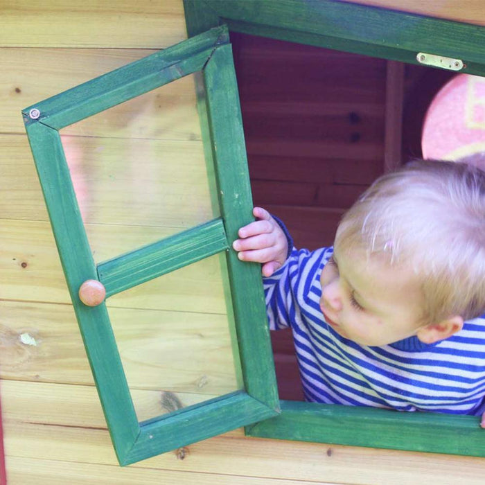 The Redwood Mansion Wooden Kids Cubby House - Kids Car Sales