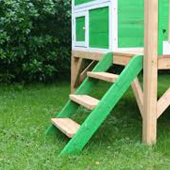 The Whacky Penthouse Raised Wooden Kids Cubby House With Slide