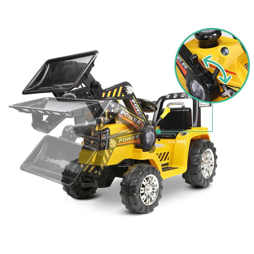 Unbranded Tough Yellow & Black Dozer Tractor 6v Ride-On Kids Car RCAR-BULLDOZER-YL