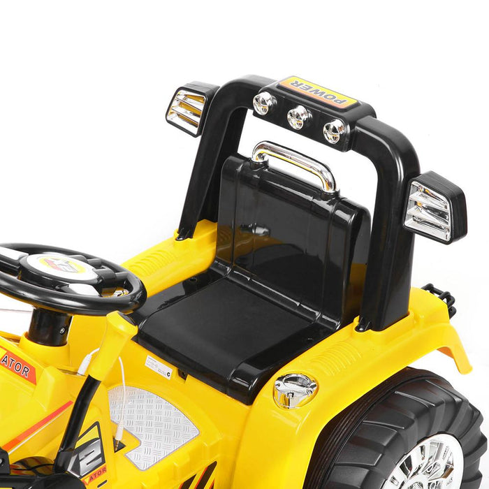 Tough Yellow & Black Dozer Tractor 6v Ride-On Kids Car - Kids Car Sales
