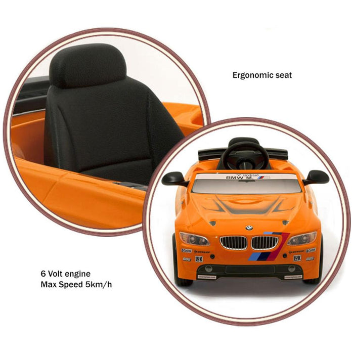 Toys Toys BMW M3 GT Sports Orange 6v Single Seat Ride-On Kids Car - Kids Car Sales