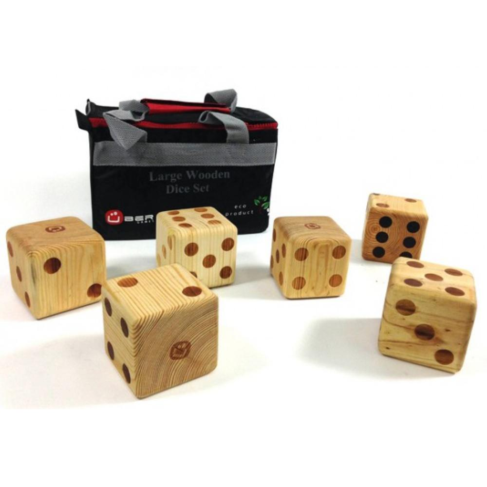 Uber Giant 9cm Wooden Dice - Pack of 6 - Kids Car Sales