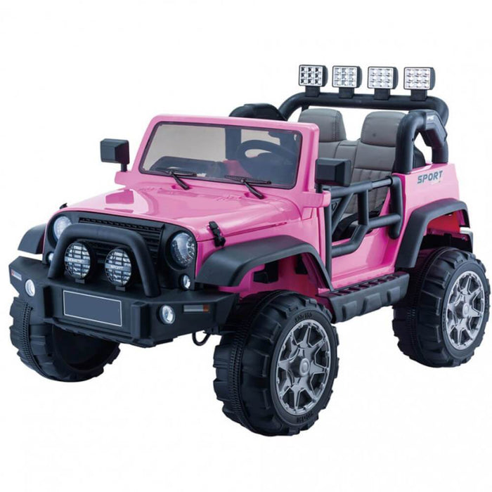 Go Skitz Go Skitz Jeep Style 12V Electric Kids Ride On - Pink GS-8180150