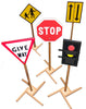 Image of Kids Play Set Of Traffic Signs - Kids Car Sales
