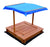 Kids Wooden Toy Sandpit with Canopy - Kids Car Sales