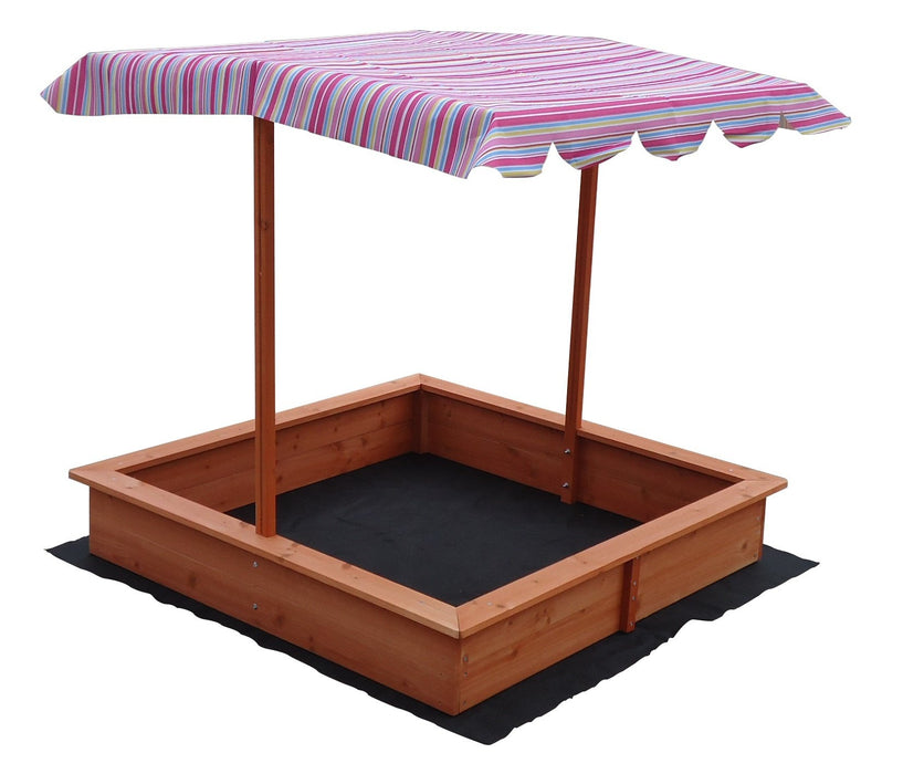 Kids Wooden Toy Sandpit with Adjustable Canopy - Kids Car Sales