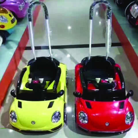 VW Beetle Inspired Red 12v Ride-On & Push Kids Car (Ages 2-4)