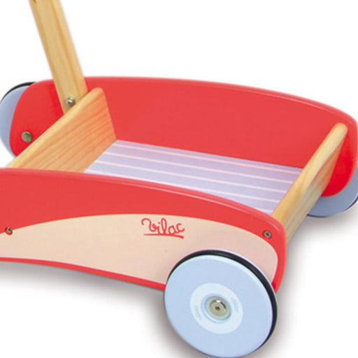 Vilac Retro Kids Wooden Walk-Along Push-Pull Trolley - Kids Car Sales