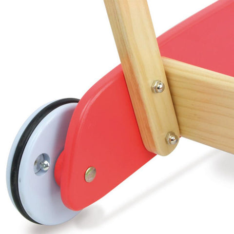 Vilac Retro Kids Wooden Walk-Along Push-Pull Trolley