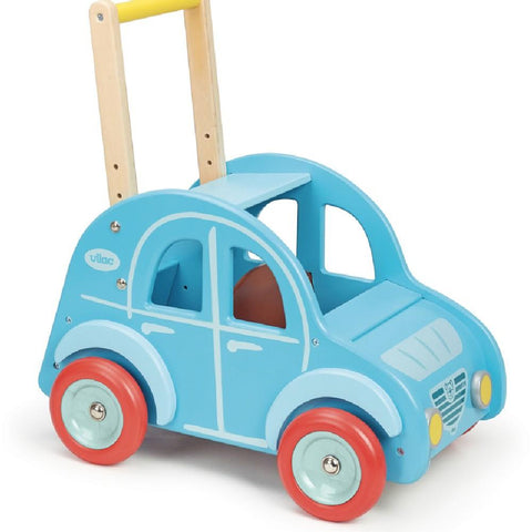Vilac Retro Wooden Toy Car Pusher & Walker