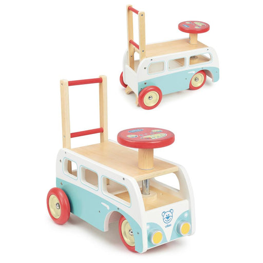 Vilac Retro Wooden Toy Combi Pusher & Ride On - Kids Car Sales