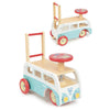 Image of Vilac Retro Wooden Toy Combi Pusher & Ride On