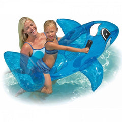 Whale Rider Pool Inflatable Float Toy With Handles