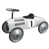 Image of White Metal Vintage Speedster Ride On Kids Car