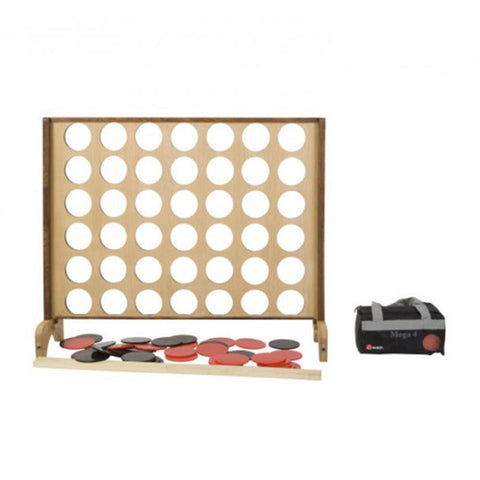 Wooden Mega 4 Supersized Giant Connect 4 Style Game 120cm x 100cm