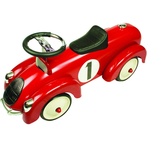 Red Vintage Coupe Metal Speedster Ride On Kids Car