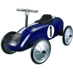 Royal Blue Metal Vintage Speedster Ride On Kids Car