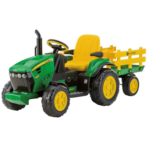 Peg Perego - John Deere Ground Force 12v Kids Ride-On Tractor (Open Box) - Kids Car Sales