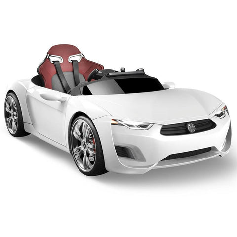 Henes Broon White F830 12v Kids Ride On Supercar With Tablet PC