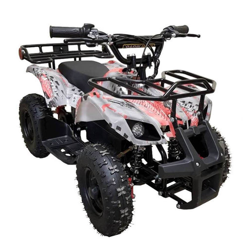 Motoworks Red Motoworks 500w 36v Electric Farm Brushless Kids Quad Bike MOT-500EATV-FA-RED