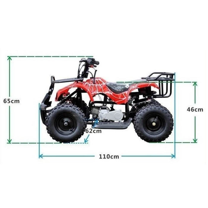 Motoworks Motoworks 49cc Petrol Powered 2-Stroke Farm Kids Quad Bike - Pink MOT-49ATV-FA-PIN