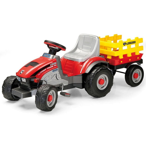 Peg Perego Tony Tigre Pedal Powered Kids Ride-On Tractor - Kids Car Sales