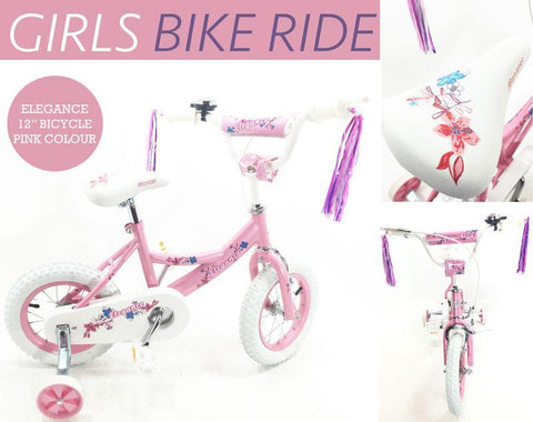 "12"" Kids BMX Bicycle - Pink"