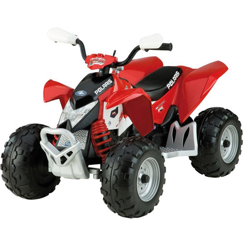 Peg Perego Polaris Outlaw 12v Kids Ride-On Quad Bike Red - Kids Car Sales