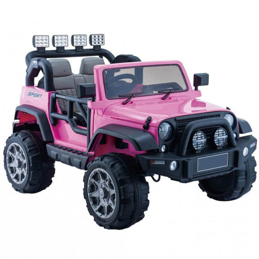 Go Skitz Jeep Style 12V Electric Kids Ride On - Pink - Kids Car Sales